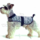 Vestă câine – negru și alb, S