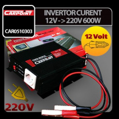 Invertor curent de la 12V la 220V 600W Carpoint - CRD-CAR0510303
