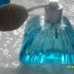 Atomizor cristal albastru-turqoise