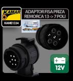 Adaptor fisa priza remorca 13-7 poli Kamar - CRD-KAME1334