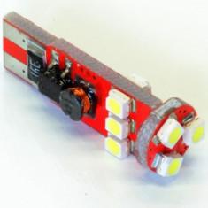 Bec LED T10 9 SMD 3528 12-24V ALBA CANBUS COD: PT149