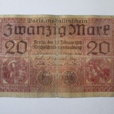 Germania 20 Mark/Marci 1918