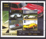 Somalia  2001  automobile  masini    MNH  w54, Nestampilat