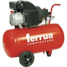Compresor aer comprimat Ferrua RC2 50l 8 bari, cu ulei