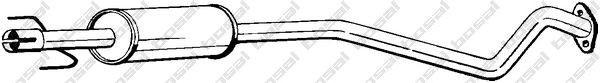 Toba esapamet intermediara Opel Astra G (f35_) 1.7 DTI 16V TD BOSAL - 284-367