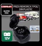 Priza remorca plastic 7 poli Carpoint 12V - Blister - CRD-CAR0410002