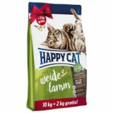 Happy Cat Supreme Adult Weide-Lamm 10 + 2 kg GRATUIT