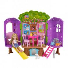 Set de Joaca Mattel Barbie Chelsea - Casuta din Copac (FPF83)