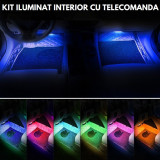 Lumini INTERIOR LED - RGB pentru interior cu telecomanda (4 benzi de 12.5 cm)