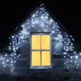 Instalatii tuturi 36m perdea franjurata ALB RECE LED Decoratiuni Craciun 900 LED