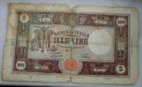Bancnota   1000  lire  1943  Italia