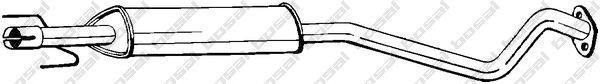 Toba esapamet intermediara Opel Astra G (f35_) 1.4 16V 1.6 BOSAL - 284-365