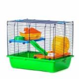 Cușcă pentru hamsteri DUSTY colorată - cu accesorii din plastic