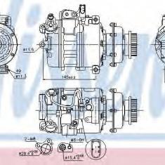 Compresor clima, aer conditionat Vw Touareg (7la, 7l6, 7l7) 2.5 R5 TDI 3.0 V6 5.0 R50 V10 NISSENS - 89036
