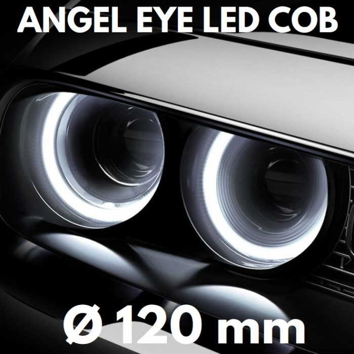 Angel Eyes LED COB - Ø 120 mm, lumina continua, alba