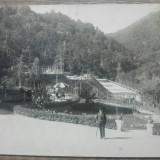 Baile Olanesti, vedere din parc// fotografie tip CP, Portrete, Romania 1900 - 1950