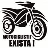 Stickere auto Atentie la moto v5