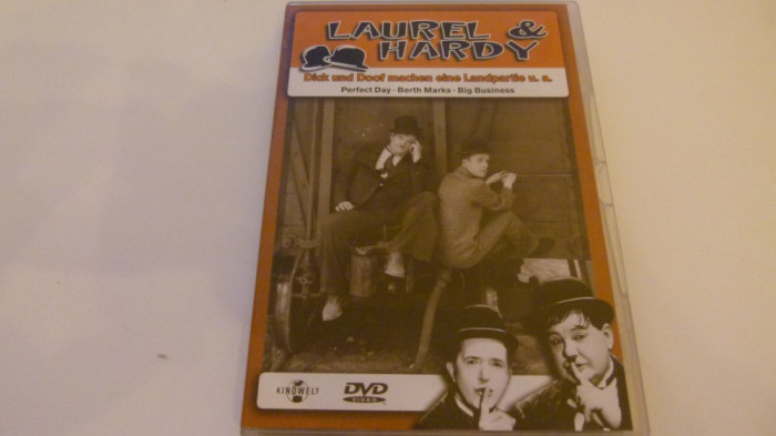 laurel and hardy - perfect day, big bussines - dvd -100