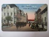 Rara! Lugoj,soldati in trecere pe strada Andrei Saguna,carte postala circ.1923