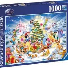 Puzzle Craciunul in familia Disney 1000 piese, Ravensburger
