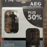 AEG Set becuri H4 P43t White Xenon Plus 50% AEG 60 55 W