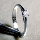 Inel argint diamant alb 0.12 ct SI