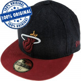 Sapca New Era Miami Heat - originala - flat brim - fullcap, 7, Din imagine