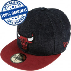 Sapca New Era Chicago Bulls - originala - flat brim - fullcap