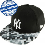 Sapca New Era New York Yankees - originala - flat brim - snapback, S/M, Negru