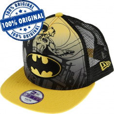Sapca New Era Batman pentru copii - originala - flat brim - snapback