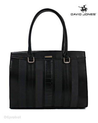 Geanta neagra dama David Jones originala 5622-2BLACK foto