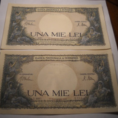 1000 lei 1941 AUNC UNC Serii Consecutive