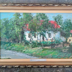 Pictura / Tablou -peisaj cu casa - de Podolyak Vilmos