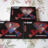 Lot 3 casete audio sigilate Basf Superman