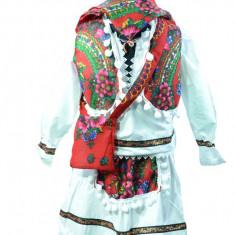 Bluza si fustita traditionala fetite NN RTFB2-A, Alb