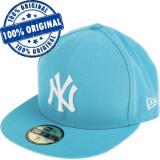 Sapca New Era New York Yankees - originala - flat brim - fullcap, 7, 7 1/2, 7 1/4, 7 3/8, Albastru