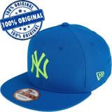 Sapca New Era New York Yankees - originala - flat brim - snapback, M/L, S/M, Albastru