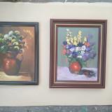 Pictura / tablou - natura statica cu flori - de Podolyak Vilmos, Ulei, Impresionism