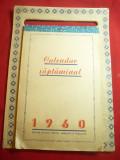Calendar saptamanal 1960 - Editura de Stat
