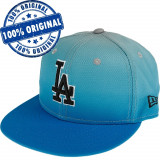 Sapca New Era Los Angeles Dodgers - originala - flat brim - fullcap, 6 7/8, 7 1/4, Albastru