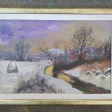 Pictura / tablou peisaj de iarna cu capita de fan - de Podolyak Vilmos, Peisaje, Ulei, Impresionism