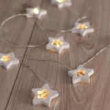 "Ghirlanda luminoasa decorativa cu 10 de LED-uri ""Wooden Star"" White, L165 cm"