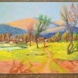 Pictura / tablou peisaj  - amurg in munti -de Podolyak Vilmos, Peisaje, Pastel, Impresionism