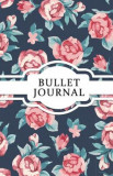Bullet Journal: Vintage Rose - Dotted Grid Journal for Girls: (5.58.5) 130 Pages, Paperback