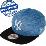 Sapca New Era New York Yankees - originala - flat brim - snapback, S/M, Albastru