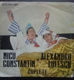 (33) DISC VINIL -  NICU CONSTANTIN SI ALEXANDRU LULESCU - CUPLETE