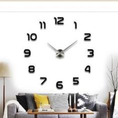 Ceas de perete 3D negru DIY WZ2447