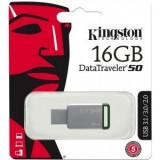 Memorie externa Kingston DataTraveler 50 16GB USB 3.0 (Metal/Green)