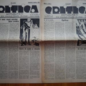 14 ziare Critica ; Arta , literatura , Filosofie , Sociologie , din 1935 , an 1