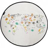 Covoraș de joacă ,Zen Art Deco, Harta Lumii